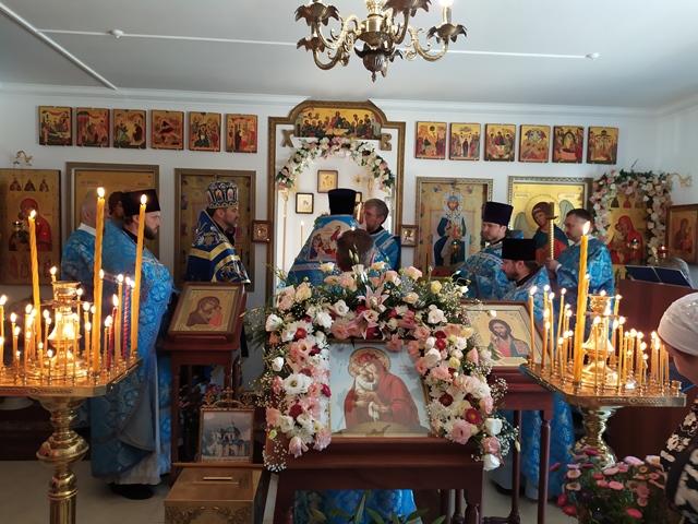 Протоиерей  Анатолий Гомоюнов принял участие в престольном празднике в честь иконы Божией Матери «Почаевская»